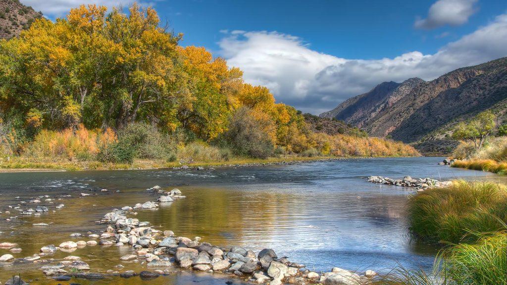 Rio Grande, NM - Autumn at the County Line