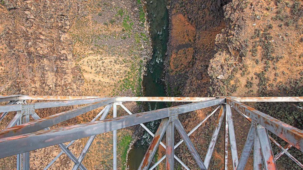 Rio Grande, NM - Looking over the edge of the Rio Grande Gorge Bridge