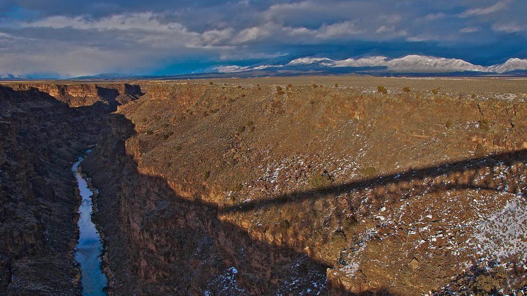 Rio Grande, NM - Shadow of the Rio Grande Gorge Bridge