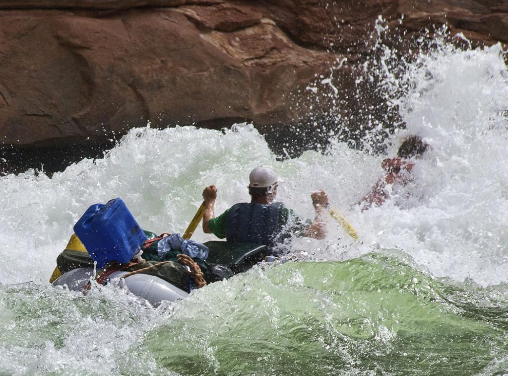 Colorado River - House Rock Rapid, on the Colorado River in the Grand Canyon